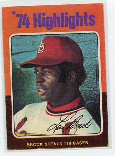 Photo of 1975 Topps #2 Lou Brock HL/118 Stolen Bases