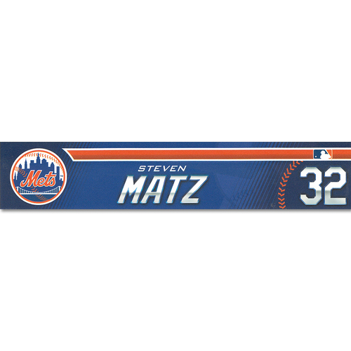 Photo of Steven Matz #32 - Game-Used Spring Training Locker Nameplate - Mets vs. Astros - 2/24/19