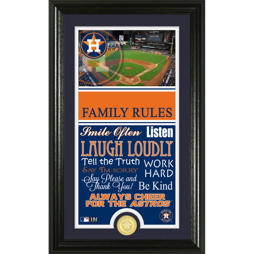 Photo of Houston Astros Personalized Family Rules Photo Mint
