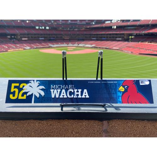 Photo of Cardinals Authentics: Michael Wacha Game Used Spring Training Locker Tag