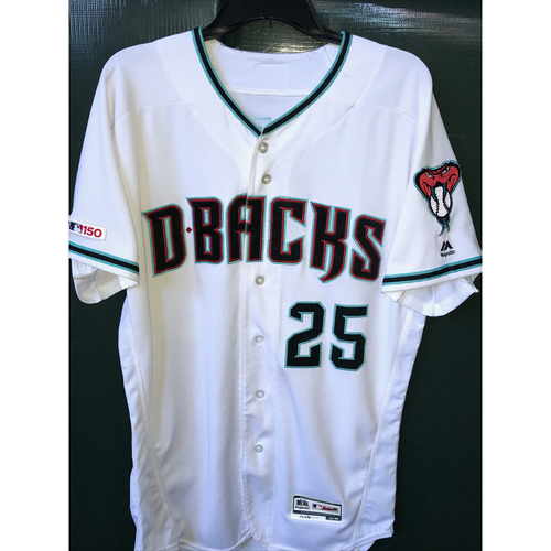 Photo of Archie Bradley Game-Used Home Alternate Jersey -- 7/19/19 vs. Brewers; 1.1 IP, 1 H, 1 K, Win