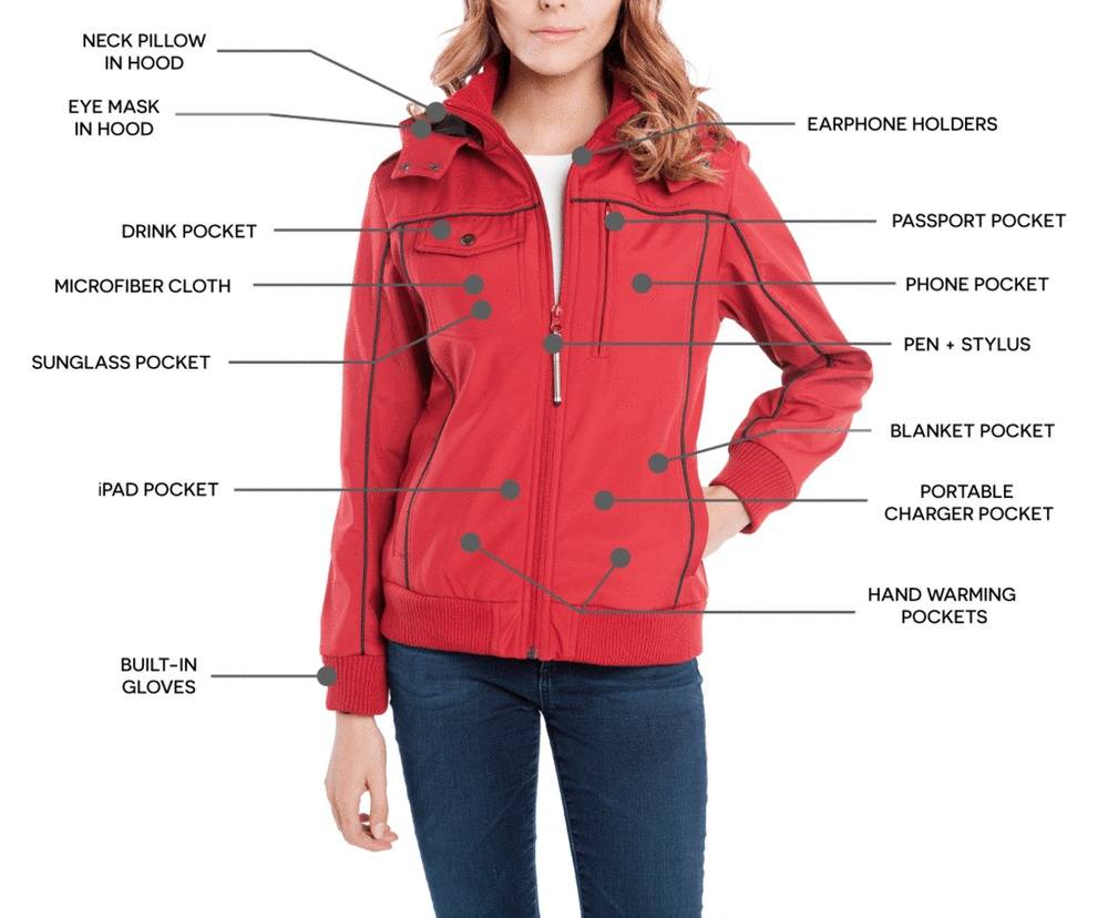 Photo of BAUBAX Women's Red Bomber Jacket 1.0 - Size Medium