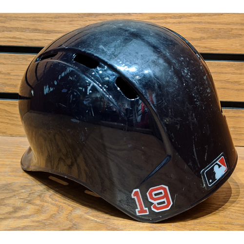 Photo of Jackie Bradley Jr. #19 Game Used Batting Helmet