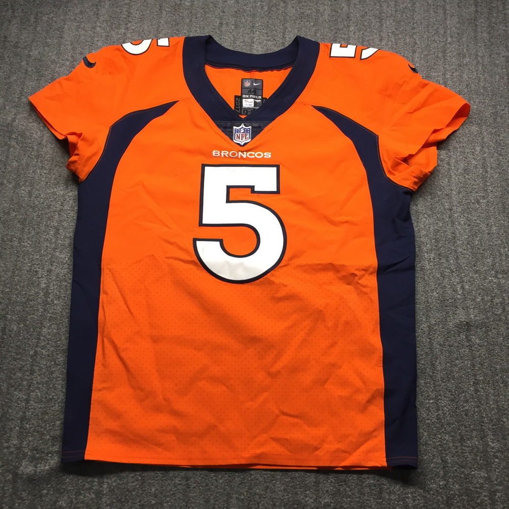Crucial Catch - Broncos Joe Flacco Game Used Jersey (10/17/2019) Size 44