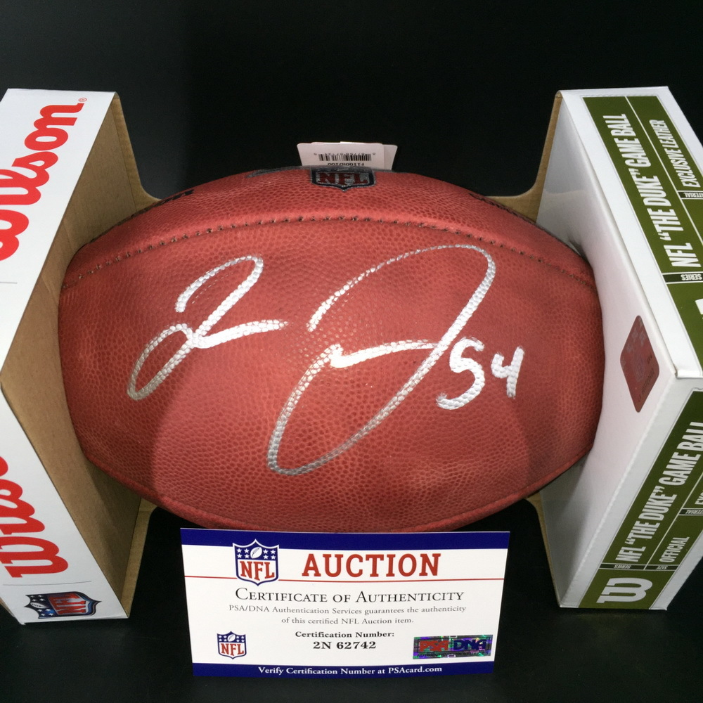 NFL - Cowboys Jaylon Smith Signed Authentic Football with 100 Seasons Logo