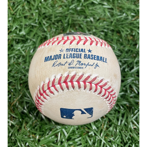 Photo of Game Used Baseball: Rafael Devers singles off Ryan Yarbrough - Top 3 - August 5, 2020 v BOS
