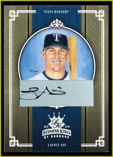 Photo of 2005 Diamond Kings Signature Silver #232 Laynce Nix/100