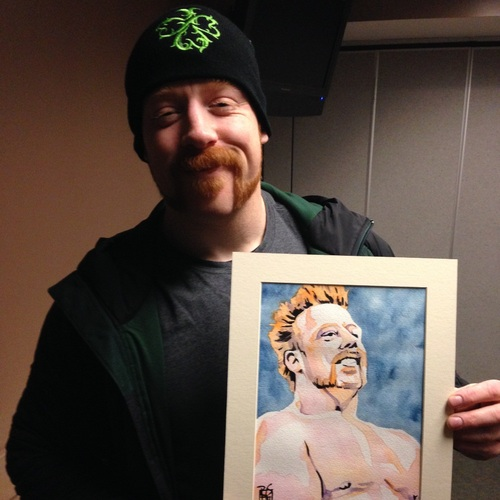 Sheamus Signed Painting by Rob Schamberger