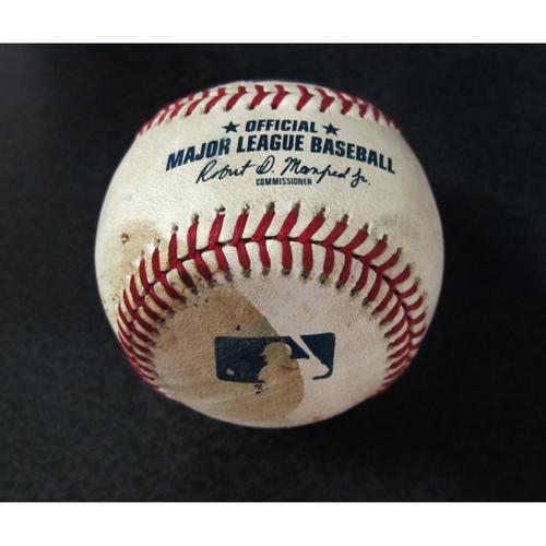Photo of Game Used Baseball - Pitcher: Chasen Bradford, Batter: Shohei Ohtani (Double - Top 7) - 7/4/18