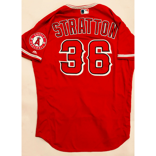Photo of 2019 Mexico Series - Game-Used Jersey - Chris Stratton, Houston Astros at Los Angeles Angels - 5/4/19