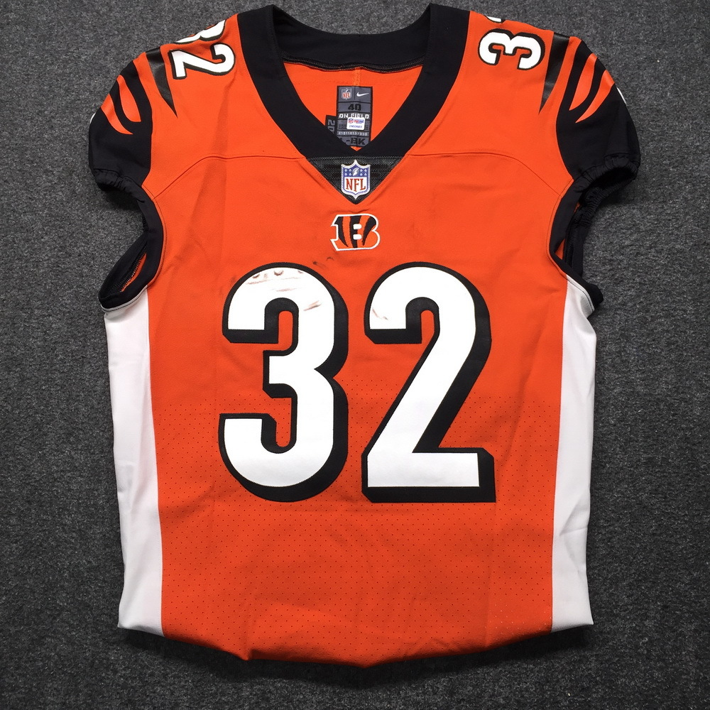 NFL Auction | STS - Bengals Mark Walton Game Used Jersey Size 40 ...