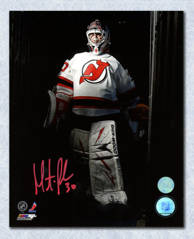 Martin Brodeur New Jersey Devils Autographed Stadium Tunnel Spotlight 8x10 Photo