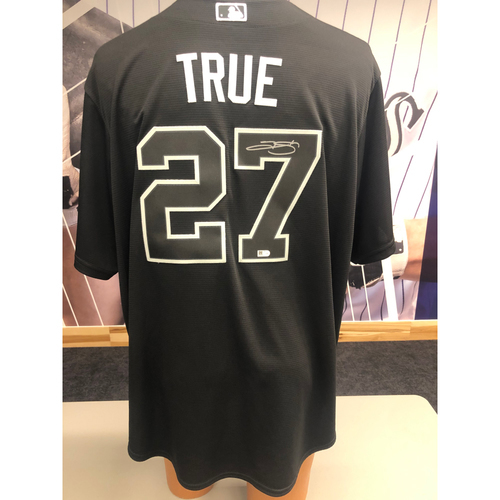 "Photo of Colorado Rockies Autographed Replica Jersey: 2019 Players Weekend Trevor ""True"" Story"