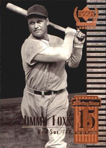 Photo of 1999 Upper Deck Century Legends #15 Jimmie Foxx