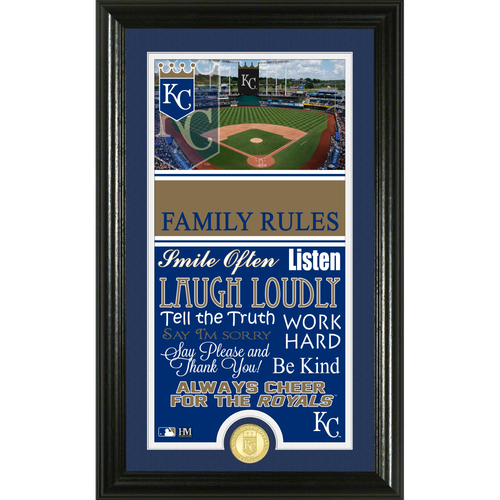 Photo of Kansas City Royals Personalized Family Rules Photo Mint