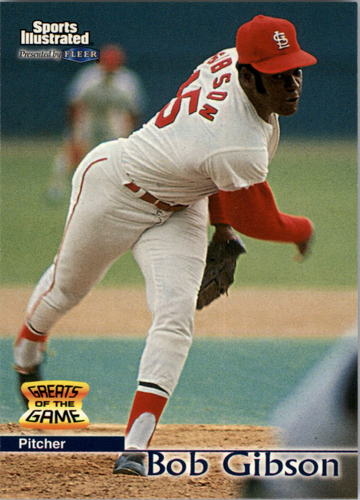 Photo of 1999 Sports Illustrated Greats of the Game #45 Bob Gibson