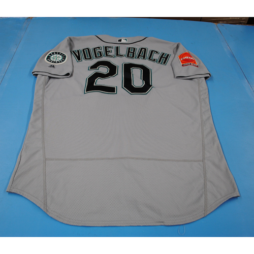 Photo of 2019 Japan Opening Series - Seattle Mariners Game-Used Jersey: Daniel Vogelbach - 3/21/19