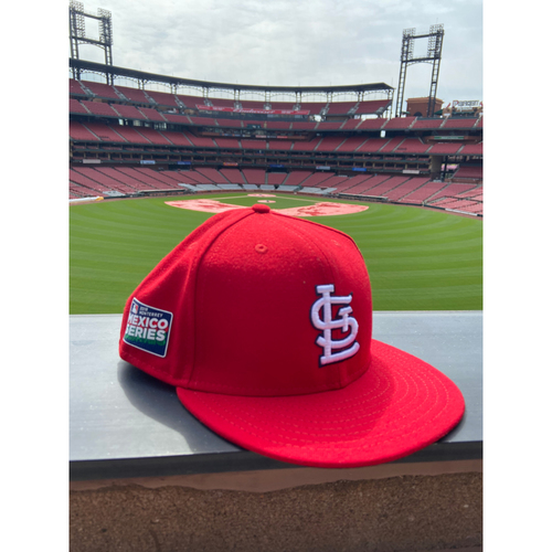 Photo of Cardinals Authentics: Team Issued Blank Mexico Series Red Cap - Choose your size!