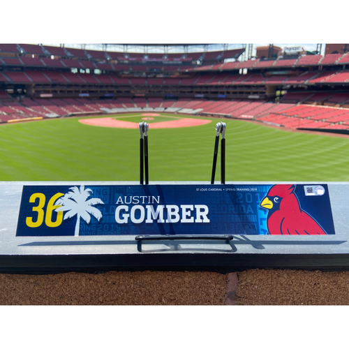 Photo of Cardinals Authentics: Austin Gomber Game Used Spring Training Locker Tag