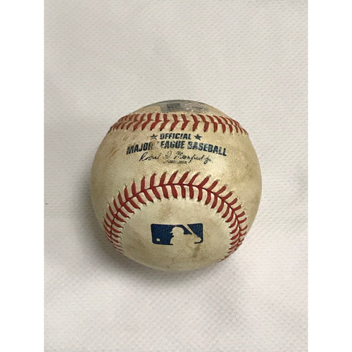 Photo of 8/5/20 Game-Used Baseball, Houston Astros at Arizona Diamondbacks: Robbie Ray vs. Alex Bregman (Struck Out Swinging) and Yulieski Gurriel (Foul)