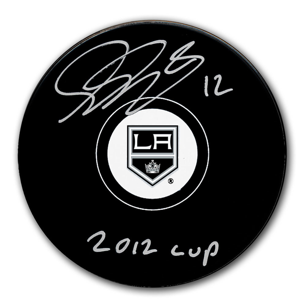Simon Gagne Los Angeles Kings 2012 Cup Autographed Puck
