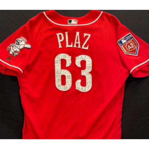 Photo of PLAZ -- Authentic Reds Jersey -- $1 Jersey Auction -- $5 Shipping -- Size 44 (Not MLB Authenticated)