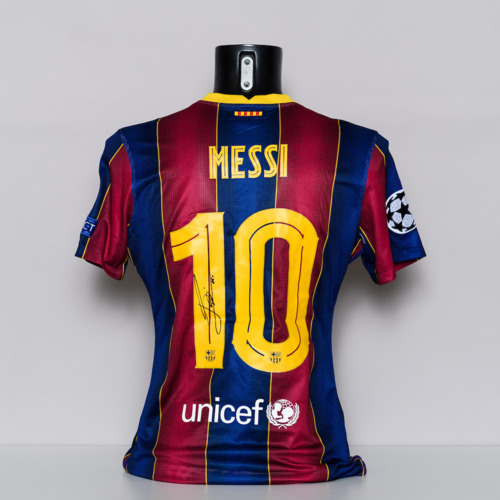 Photo of 20/21 FC Barcelona Jersey - signed by Lionel Messi