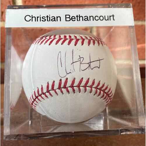 Photo of Christian Bethancourt Autographed Baseball