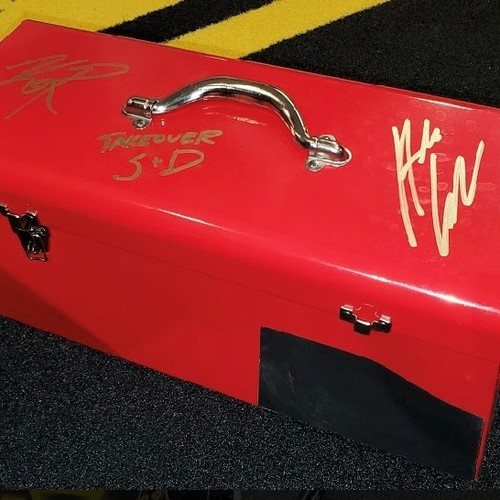Adam Cole and Kyle O'Reilly SIGNED and USED Tool Box (NXT TakeOver Stand & Deliver)