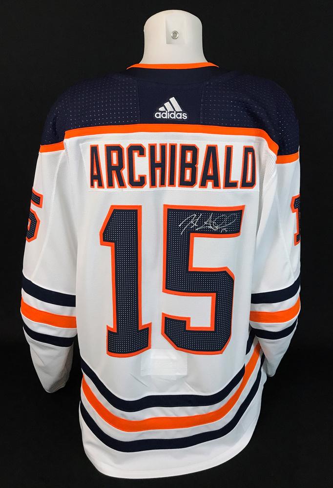 Josh Archibald #15 - Autographed 2020-21 Edmonton Oilers vs Calgary Flames Battle of Alberta Game-Worn Jersey