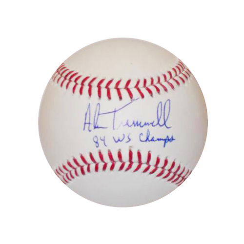 "Photo of Detroit Tigers Alan Trammell Autographed Inscribed ""1984 WS Champ"" Baseball"