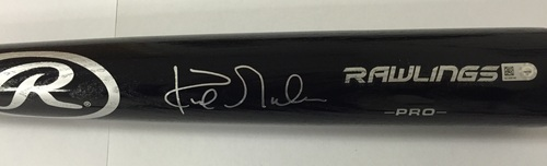 Photo of Kirk Gibson Autographed Black Rawlings Pro Bat