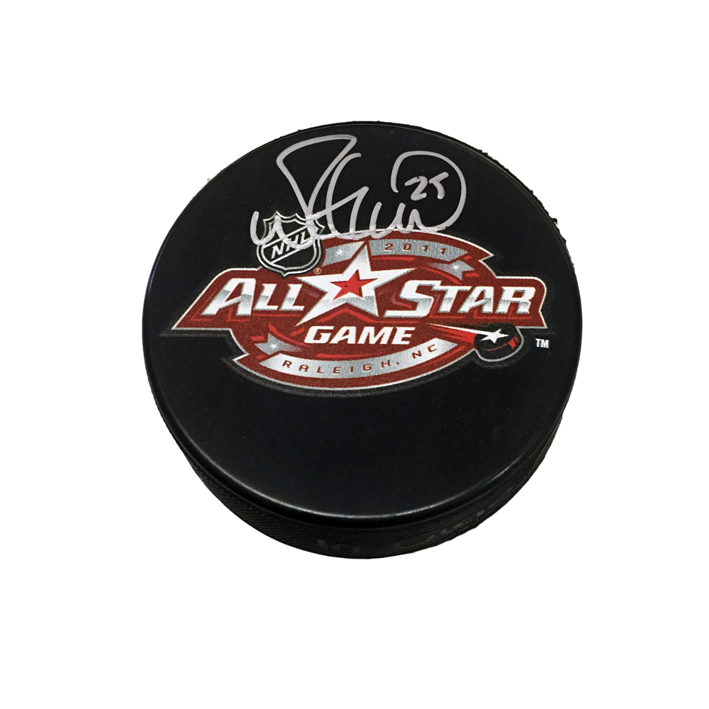 MIKE GREEN Signed 2011 NHL All-Star Game Souvenir Puck - Washington Capitals