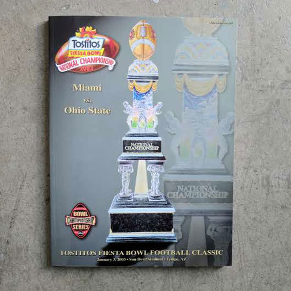 Photo of 2003 Fiesta Bowl/BCS National Championship Game Program