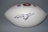 49ERS - JOE STALEY SIGNED PANEL BALL W/49ERS LOGO