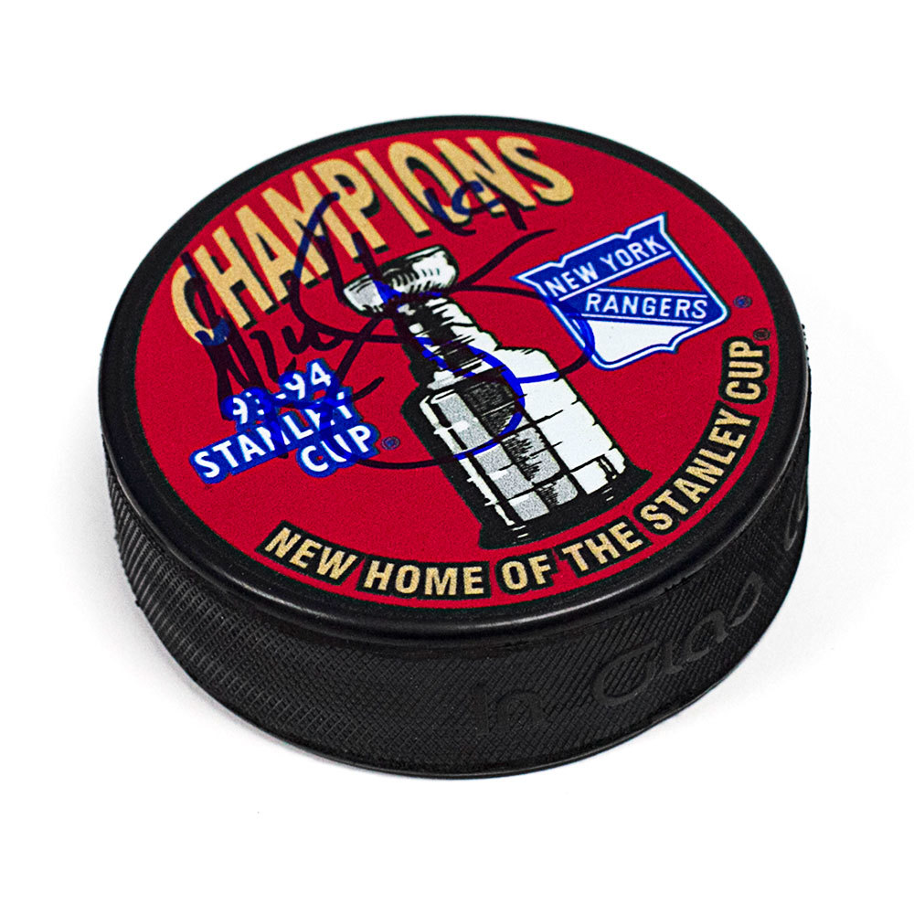 Nick Kypreos New York Rangers Autographed 1994 Stanley Cup Puck