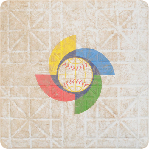 2013 WBC: Round 2 - Netherlands vs. Cuba Game-Used 1st Base