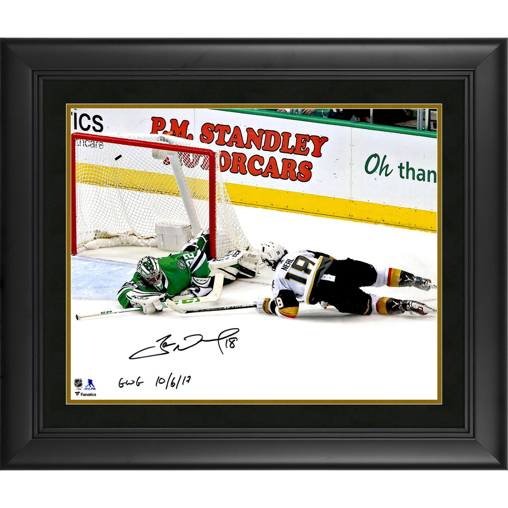 James Neal Vegas Golden Knights Framed Autographed 16