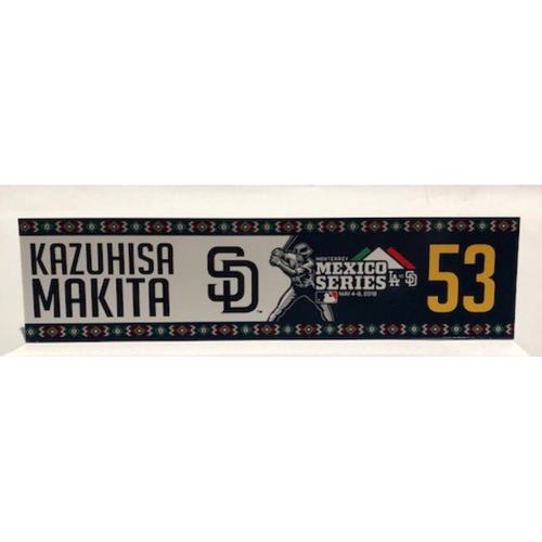 Photo of 2018 Mexico Series - Kazuhisa Makita Game-Used Locker Tag