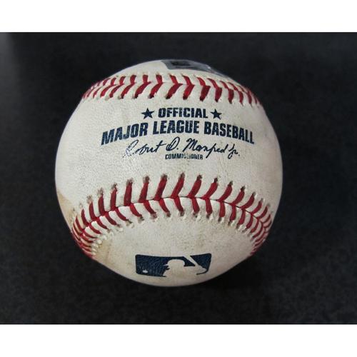 Photo of Game Used Baseball - Pitcher: Wade LeBlanc, Batter: Shohei Ohtani (Strikeout - Top 2)  7/3/18