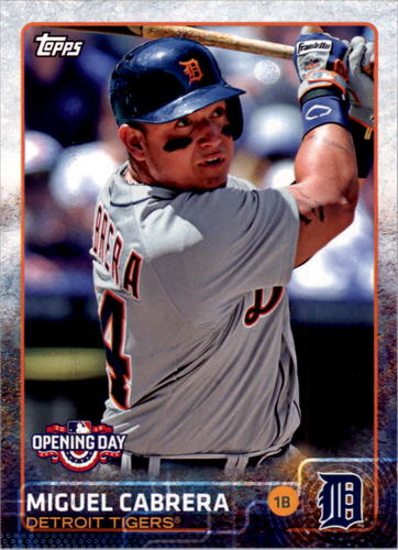 Photo of 2015 Topps Opening Day #20 Miguel Cabrera