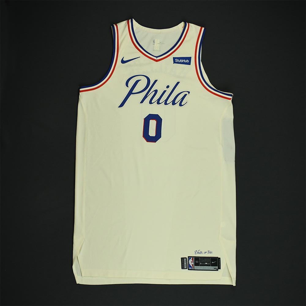 Jerryd Bayless - Philadelphia 76ers - Game-Worn 'City' Jersey - 2017-18 Season