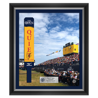 Photo of 1 of 25 Francesco Molinari, The 147th Open Carnoustie Autographed Official Quiet Please Bat Unused Framed