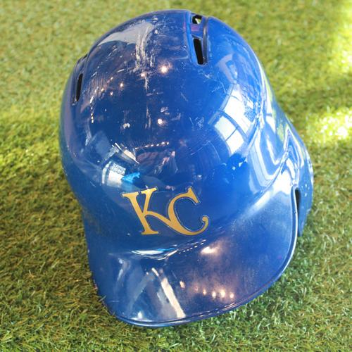 Photo of Team-Issued Batting Helmet: Alcides Escobar (Size - 7 3/8)
