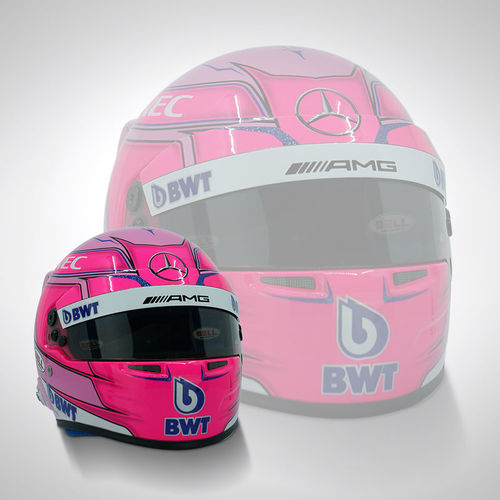 Photo of Esteban Ocon 2018 1:2 Scale Replica Helmet
