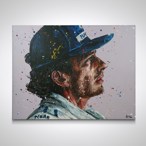Photo of Ayrton Senna 1994 Hand Embellished Canvas - Paul Oz
