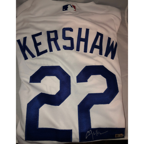 Photo of Clayton Kershaw Authentic Autographed Los Angeles Dodgers Jersey