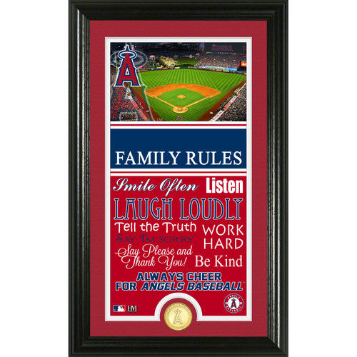 Photo of Los Angeles Angels Personalized Family Rules Photo Mint