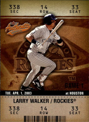 Photo of 2003 Fleer Authentix #71 Larry Walker