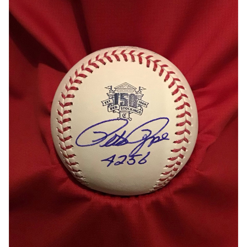 Photo of Pete Rose Autographed 150 Baseball with Inscription